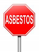 picture of asbestos  - Illustration depicting a sign with an asbestos concept - JPG