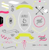 picture of laurel  - Wedding graphic set - JPG