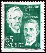 Postage Stamp Sweden 1971 Wien And Gullstrand, Nobel Prize