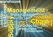 foto of supply chain  - Word cloud tags concept illustration of supply chain management glowing light effect - JPG