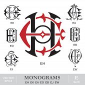 foto of initials  - Vintage monogram set - JPG