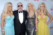 Bridget Marquardt and Hugh Hefner with Holly Madison and Kendra Wilkinson  at the 36th AFI Lifetime