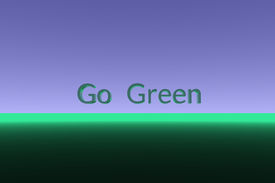 picture of stewardship  - Go Green 3D text on simple background - JPG