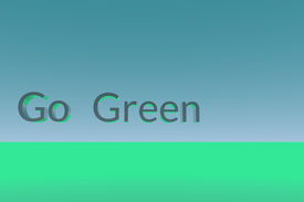 stock photo of stewardship  - Go Green 3D text on simple background - JPG