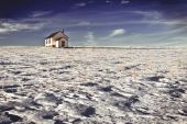 pic of farrow  - Abandoned church in a vast landscape set amongst snow and ice