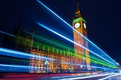 pic of london night  - Traffic through London - JPG