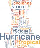 Hurrican Weather Background Concept poster