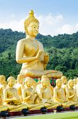 picture of na  - buddha status at temple Na KhonNayok Thailand  - JPG