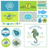 image of seahorses  - Vintage Seahorse Party Set  - JPG