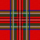 stock photo of kilt  - Vector Illustration of Seamless tartan pattern for your design - JPG