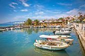 stock photo of albania  - Saranda city port  at ionian sea - JPG