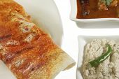stock photo of garam masala  - Mysore Masala Dosa Stuffed With potato Masala - JPG