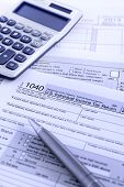 image of irs  - United States federal income tax return IRS 1040 documents - JPG