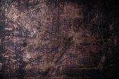 image of scratch  - Old scratched black dark background texture pattern - JPG