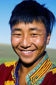 pic of mongolian  - Mongolian man in traditional dress - JPG