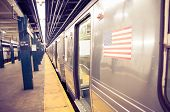 stock photo of wagon  - Subway train in New York  - JPG