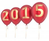 picture of helium  - 2015 New Year balloons party decoration - JPG