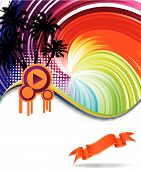 pic of beach party  - Colorful disco banner for advertising web and many other issues - JPG