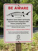 stock photo of suwannee river  - Sign at Lafayette Blue Springs State Park - JPG