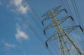 image of voltage  - high voltage post - JPG