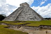 picture of yucatan  - Kukulkan Pyramid in Chichen Itza on the Yucatan Mexico - JPG
