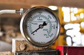 picture of pressure vessel  - Pressure gauge for measuring pressure in the system - JPG