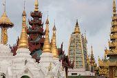 stock photo of yangon  - The Shwedagon Pagoda in Yangon - JPG