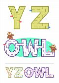 picture of maze  - Easy alphabet maze games for kids  - JPG