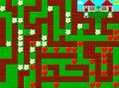 foto of pixel  - Maze retro old style game pixelated graphics - JPG