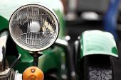 pic of headlight  - Color detail on the headlight of a vintage car - JPG