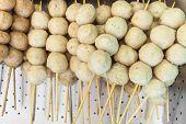 stock photo of pork  - fried pork balls or pork meatballs  - JPG