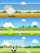 picture of volleyball  - Vector Set of sport banners - JPG