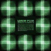 Постер, плакат: Abstract seamless blue green metallic viking like pattern