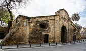 stock photo of gate  - Famous historical building landmark of Famagusta Gate in the city of Nicosia in Cyprus - JPG