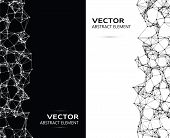 foto of cybernetics  - Vector abstract black and white cybernetic elements - JPG