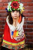 stock photo of national costume  - Ukrainian national costume - JPG