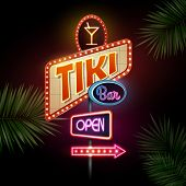 picture of tiki  - Neon Sign - JPG