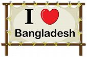 foto of bangladesh  - I love Bangladesh in wooden frame - JPG