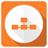 foto of cisco  - database orange flat icon   - JPG