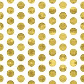 image of dots  - White and gold pattern - JPG