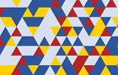pic of color geometric shape  - Retro pattern of geometric shapes - JPG