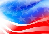 foto of flags world  - Abstract American flag on a white background  - JPG