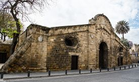 image of gate  - Famous historical building landmark of Famagusta Gate in the city of Nicosia in Cyprus - JPG