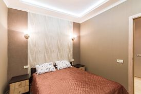 stock photo of flat-bed  - Hotel room - JPG