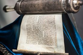 picture of torah  - ancient sacred the unwrapped Torah scroll silver - JPG