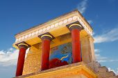 picture of minos  - Knossos palace at Crete - JPG