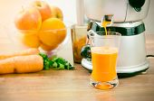 Juicer Prepares Fresh And Healthy Juice poster