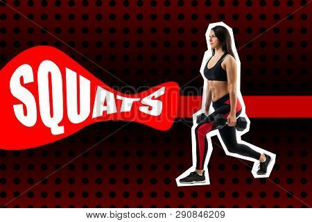 Exercise Of Squats With Weight