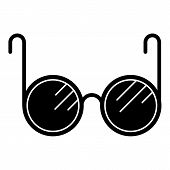 Blind Glasses Icon. Simple Illustration Of Blind Glasses Vector Icon For Web Design Isolated On Whit poster