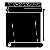 Paper Roller Blind Icon. Simple Illustration Of Paper Roller Blind Vector Icon For Web Design Isolat poster